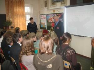 Встреча с ветераном в частной школе фото